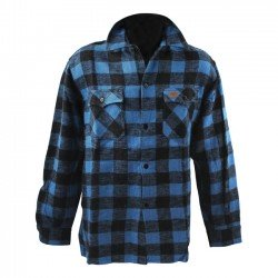 MCS 545430 Checkered shirtblack/bluem chez KS MOTORCYCLES